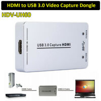 UVC UAC 1080P 60FPS to USB3.0 Video HDMI Capture Dongle Card Box For Windows