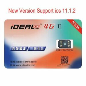 Phones IDEAL 4G Ⅱ Smart IC Perfect Unlock Turbo Sim Card Sticker For IPhone
