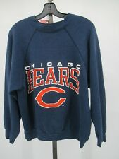 H0074 VTG 90s Chicago Bears NFL-Football Pull-Over Sweater Made in USA Size XL