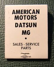 Matchbook - Stang Motor Sales Elyria OH FULL Datsun MG AMC