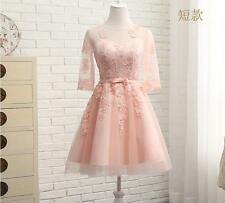 Elegant Women's Bridesmaid Gown Wedding Dress Banquet Bowknot Lace up Ball Gown
