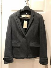 BURBERRY BRIT Grey Charcoal Jacket Knit 100% Wool New with Tag 16UK.-