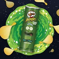 PringlesPICKLE RICK & Morty LIMITED EDITION 5.5 oz NEW SEALED Crisps Chips