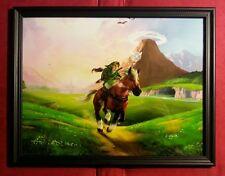 Legend of Zelda Link Epona Horse Framed Art Print Nintendo Video Game Gift
