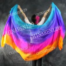 BELLY DANCE 100% SILK VEILS (5.0 M/M)  five colors veils free shipping free bag