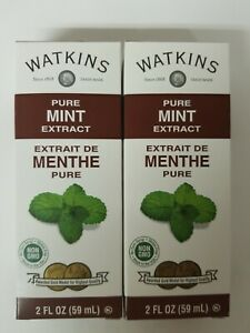 (2 Pack) Watkins Pure Mint Extract, 2oz, expiration 03/2024