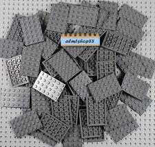 LEGO - 4x6 Dark Bluish Gray Plates #3032 Baseplate Base Flat Castle Bulk Lot