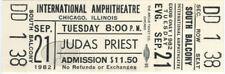 JUDAS PRIEST 1982 Chicago Unused Concert Ticket White
