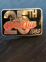 Vintage Collectible Cadillac Crest Club 1989 25th Metal Pinback Lapel Pin