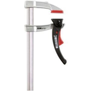 BESSEY KliKlamp 200 x 80 mm Hebel-Schnellspannzwinge KLI mit Magnesium Spannbüge