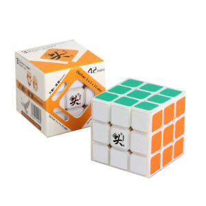 Dayan Zhanchi 3x3x3 Magic Cube Black Puzzle White Anti-POP 42mm mini Speedcubing