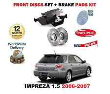 FOR SUBARU IMPREZA 1.5 SPORTS WAGON R 2006-12/2007 FRONT BRAKE DISCS + DISC PADS