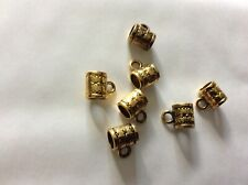 Gold plated  loop bails approx 8mm x 6mm  x 20 pack R