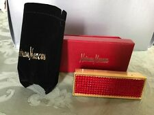 Neiman Marcus Rhinestone Red Lipstick Case, new!