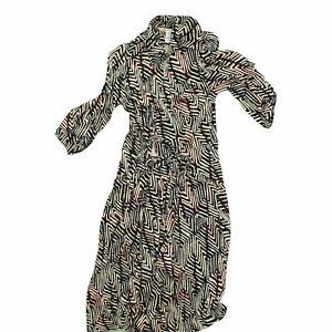 Dvf Diane Von Furstenberg Women's Midi Dress 4 Multi, 100% - silk
