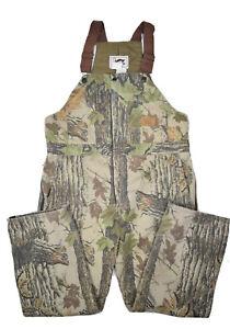 Vintage Duxbak Insulated Bib Overalls Mens M Hunting Realtree Camouflage USA