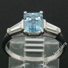 Anelli di lusso con gemme blu Smeraldo pietra principale acquamarina