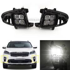 For Hyundai Kia Sorento 2018-2020 LED Daytime Running Light  DRL Fog Lamp +Cover
