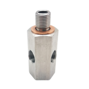 Stainless Steel Oil Pressure Sensor Tee 1/8in NPT To Adapter Fitting Turbo Feed