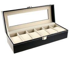 Elegant 6/10/12 Watch Jewelry Display Storage Case Bracelet Faux Leather