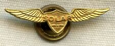 WWII Solar Aviation Lapel Wing