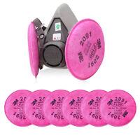 3M 6200 Spray Paint Gas Mask respirator facepiece & 6PCS 3M 2091 P100 Filters *