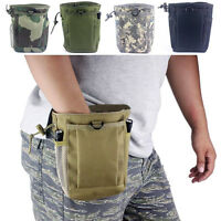 Military Molle Belt Tactical Paintball Magazine Dump Ammo Pouch Utility Bag New