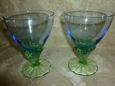 Drink Glasses Hand Made Colorful Design Set Of Two