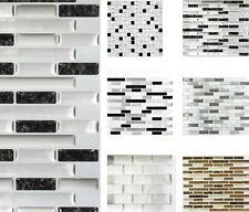 Selbstklebende Kunststoff Aufkleber Wanddekor Mosaikoptik / 4 Matten im Blister