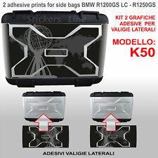2 adesivi borse valigie BMW R1200GS - R1250GS grafica CAPONORD planisfero 2013