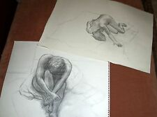 2 Patricia Rhodes Charcoal Drawings - Lot #3 - Nudes On Bed