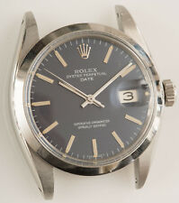 VINTAGE 1968 ROLEX OYSTER PERPETUAL DATE MAN'S WATCH REF 1500 RUNS BUT NEEDS TLC