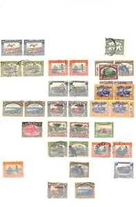 [OP7516] South West Africa lot of stamps on 12 pages