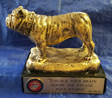 Usmc Bulldog Statue Engage Your Brain Before You Engage Your Weapon Gen Mattis