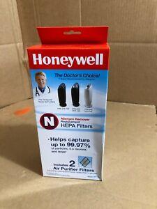 Honeywell HRF-N2 Replacement HEPA Clean Air Purifier Filter (2 Filters) Genuine