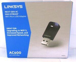 Linksys WUSB6100M Ac600 WiFi Dual-Band Micro USB Adapter