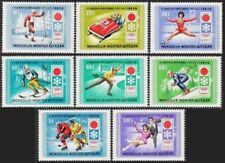 MONGOLIE  N°596/603** Jeux Olympiques Sapporo 1972, MONGOLIA Olympics Games MNH