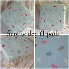 scottie dog a shape seat pads cushions x4 kitchen/dining room/pation/garden new