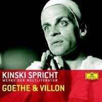 KLAUS KINSKI - KINSKI SPRICHT GOETHE UND VILLON  CD NEW