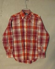 Z8339 Men's Wrangler Red Plaid Button Up Long Sleeve Shirt-No tag size