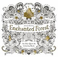 Enchanted Forest An Inky Quest Coloring Book Johanna Basford Fun Mazes Flora NEW