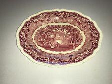 Mason's Vista Ironstone Serving Tray Platter Pink England 11 x 8-5/8