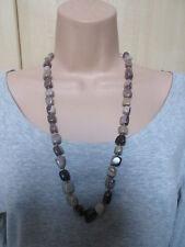 Lola Rose Brown Gris Multi Piedras Semi Preciosas Perla Collar & Bolsa Nuevo / BNWT