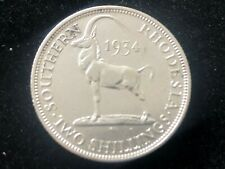 1934 Southern Rhodesia Two Shilling Silver Coin