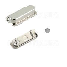 ORIGINALE iPhone 5 5S Argento Top Power Switch button+inner contatto Riparazione Parte