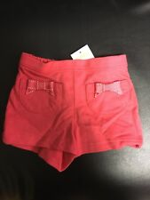 Nwt Girls Infant Gymboree Coral Shorts Size 6-12 Months
