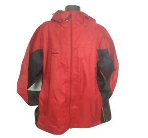 Columbia Canyon Creek Waterproof Jacket Red Black Men 2XL (XXL) Hood Zip Up NWT
