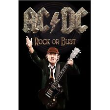 AC/DC premium fabric poster ROCK OR BUST - ANGUS