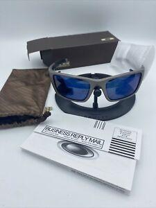 Oakley Jury Sunglasses OO4045-03 Distressed Silver/Ice Iridium