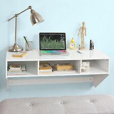 SoBuy ® Pared Computadora Escritorio Tocador con cubos de almacenamiento,, FWT14-W, Blanco, Reino Unido